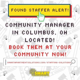We have 2 available staffers in Columbus, OH!📢