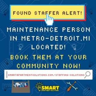 We have 5 available staffers in Metro Detroit and Ann Arbor, MI!!📢